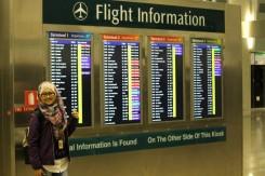 Papan informasi dekat stasiun MRT