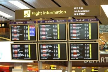 Informasi penerbangan di dalam bandara